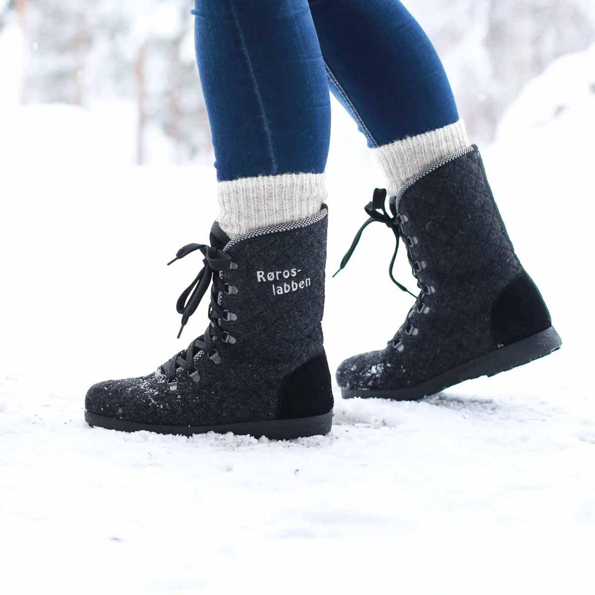 Røroslabben sko GRÅ